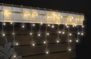 259 LED Warm White Icicle Twinkle Christmas Lights