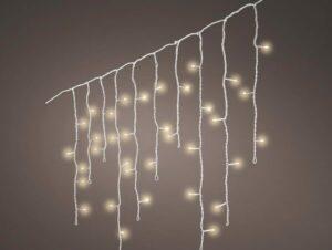 LED Warm White Icicle Twinkle Christmas Lights