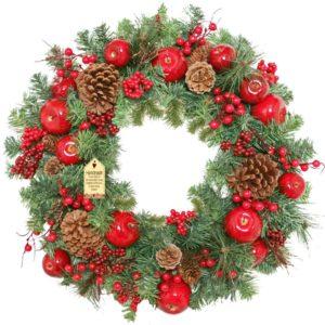 Luxury Apple Christmas Wreath For Sale Dublin Ireland