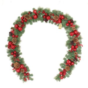 9ft Luxury Apple Christmas Garland