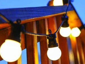 10 LED Heavy Duty Festoon Christmas Lights Warm White FDL (5m)