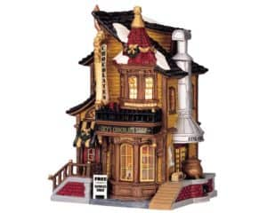 Lemax Lucy's Chocolate Shop Lighted Building Facade *Collection Only*