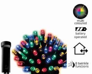 Durawise Multicoloured Battery Christmas lights with Timer For Sale Dublin