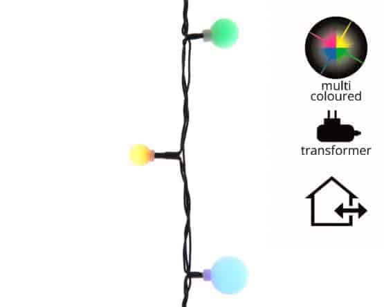LED Multicoloured 3 Size Cherry Christmas Lights (240 Lights) - Christmas Lights For Sale Dublin Ireland