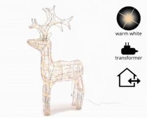 Warm White LED Acrylic Reindeer