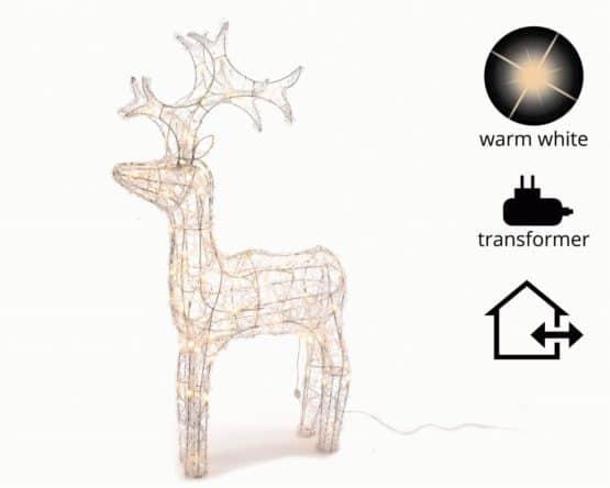 Warm White LED Acrylic Reindeer - Christmas Lights For Sale Dublin Ireland
