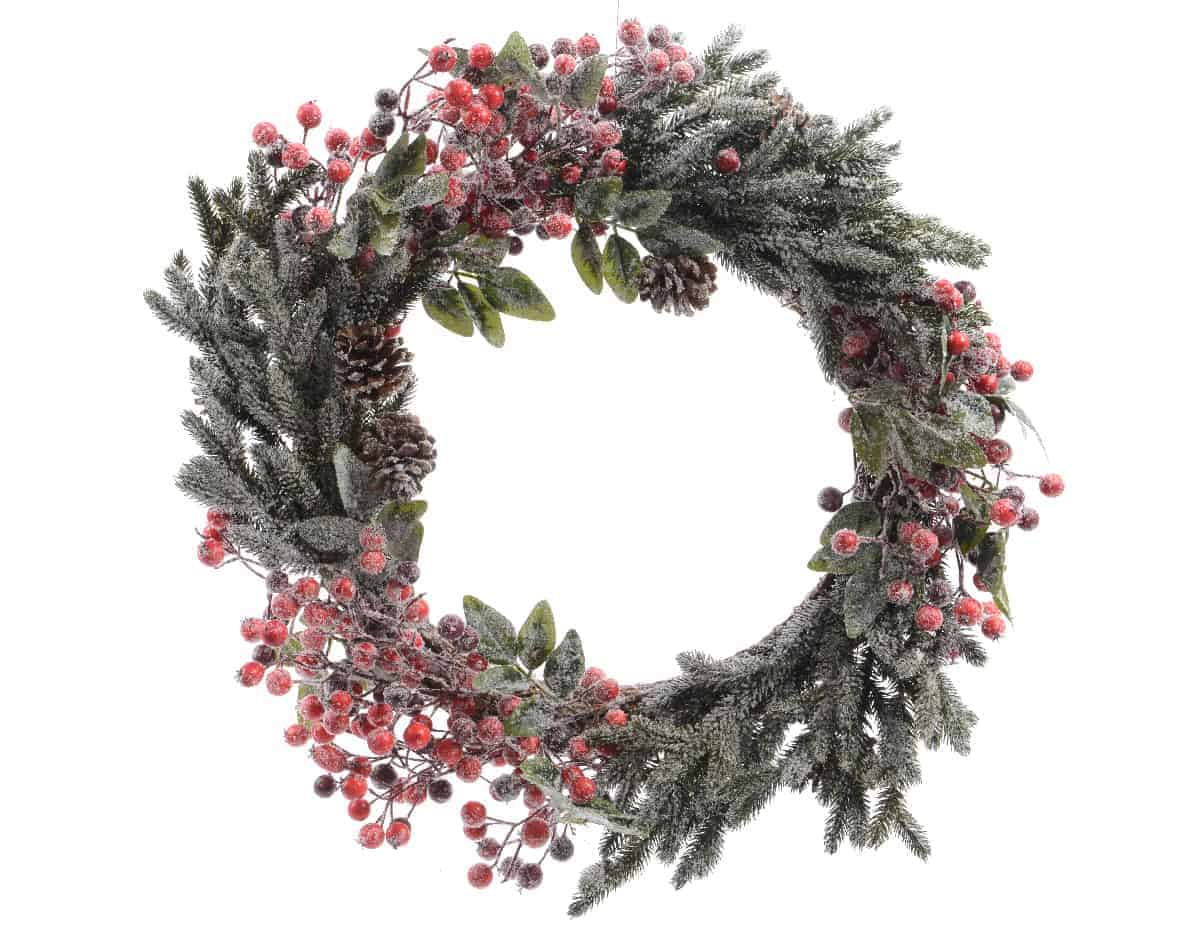 christmas wreath mixed berries christmas decorations
