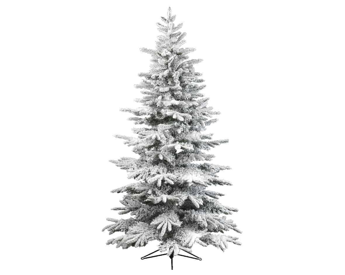 8ft Snowy Alaskan Fir Artificial Christmas Tree | Artificial ...