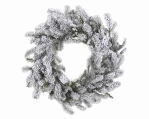 "24"" (61cm) Snowy Nordmann Christmas Wreath"