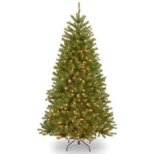 7.5ft Northvalley Spruce Pre-Lit LED Artificial Christmas Tree For Sale Dublin Ireland