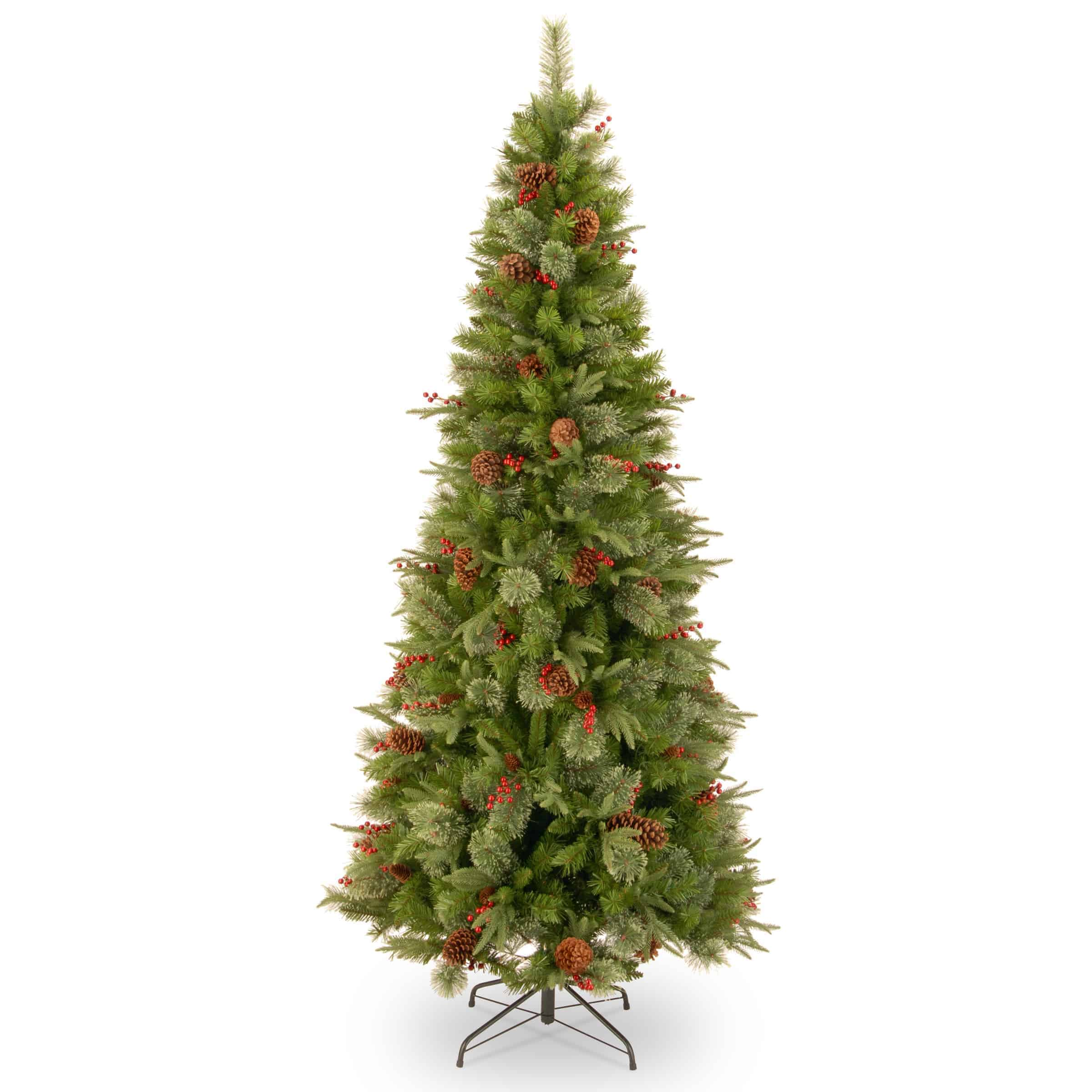 7.5ft Colonial Feel Real Artificial Christmas Tree (Slim ...