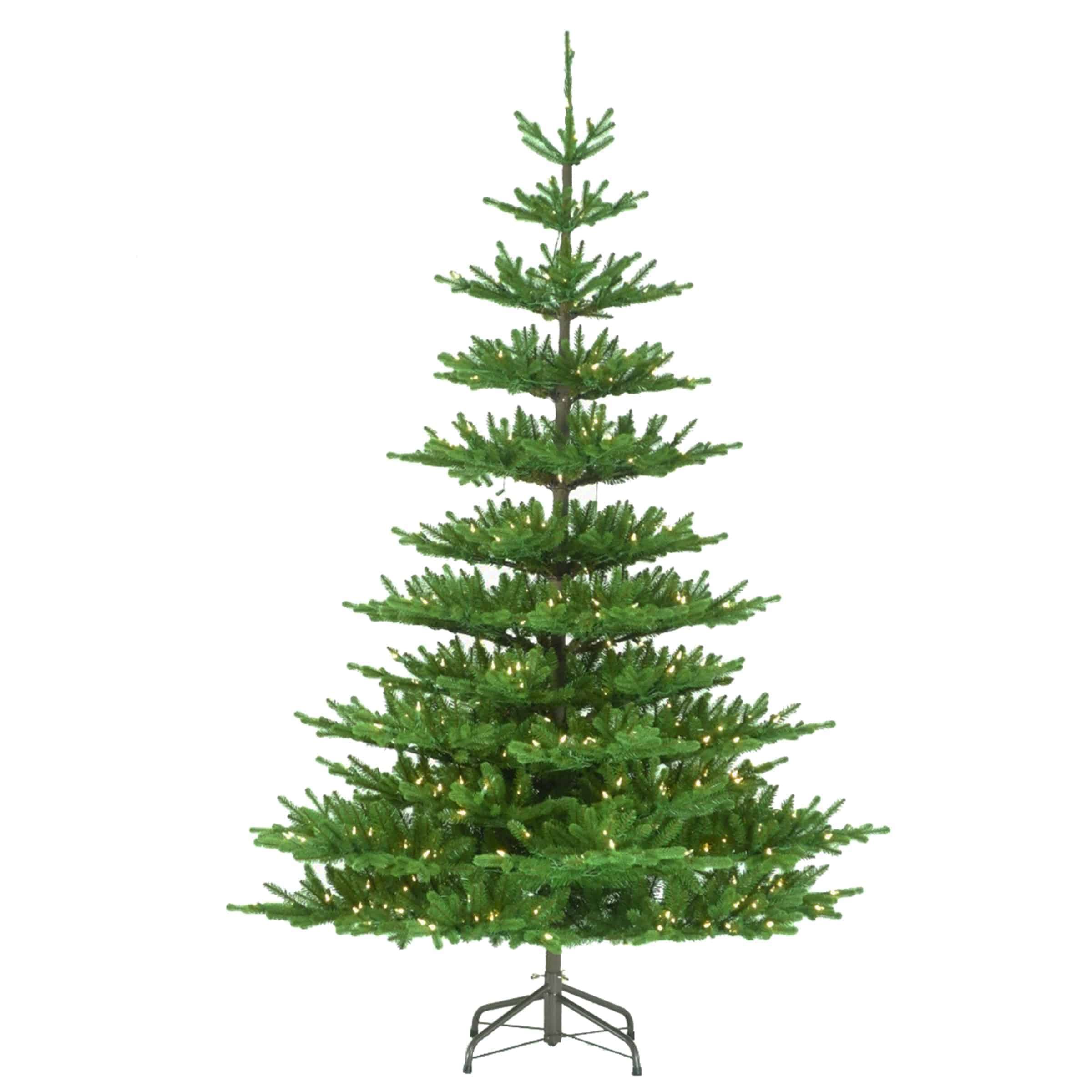 7.5ft Imperial Feel Real Spruce Pre-Lit Artificial Christmas Tree ...