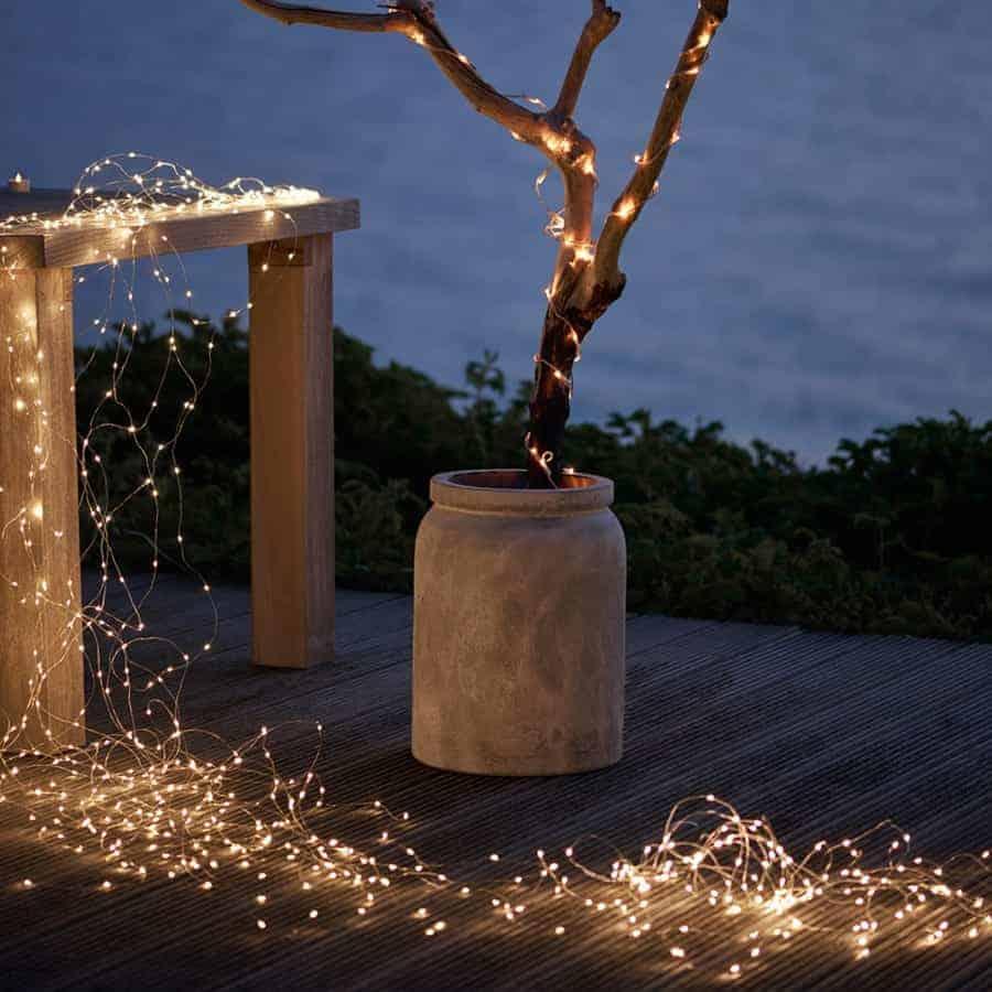 Warm White Micro Led Bunch Christmas Lights With Flash