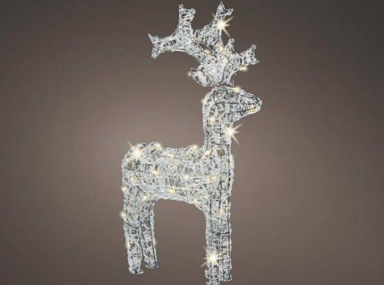 Warm White LED Acrylic Reindeer - Christmas Lights For Sale Dublin