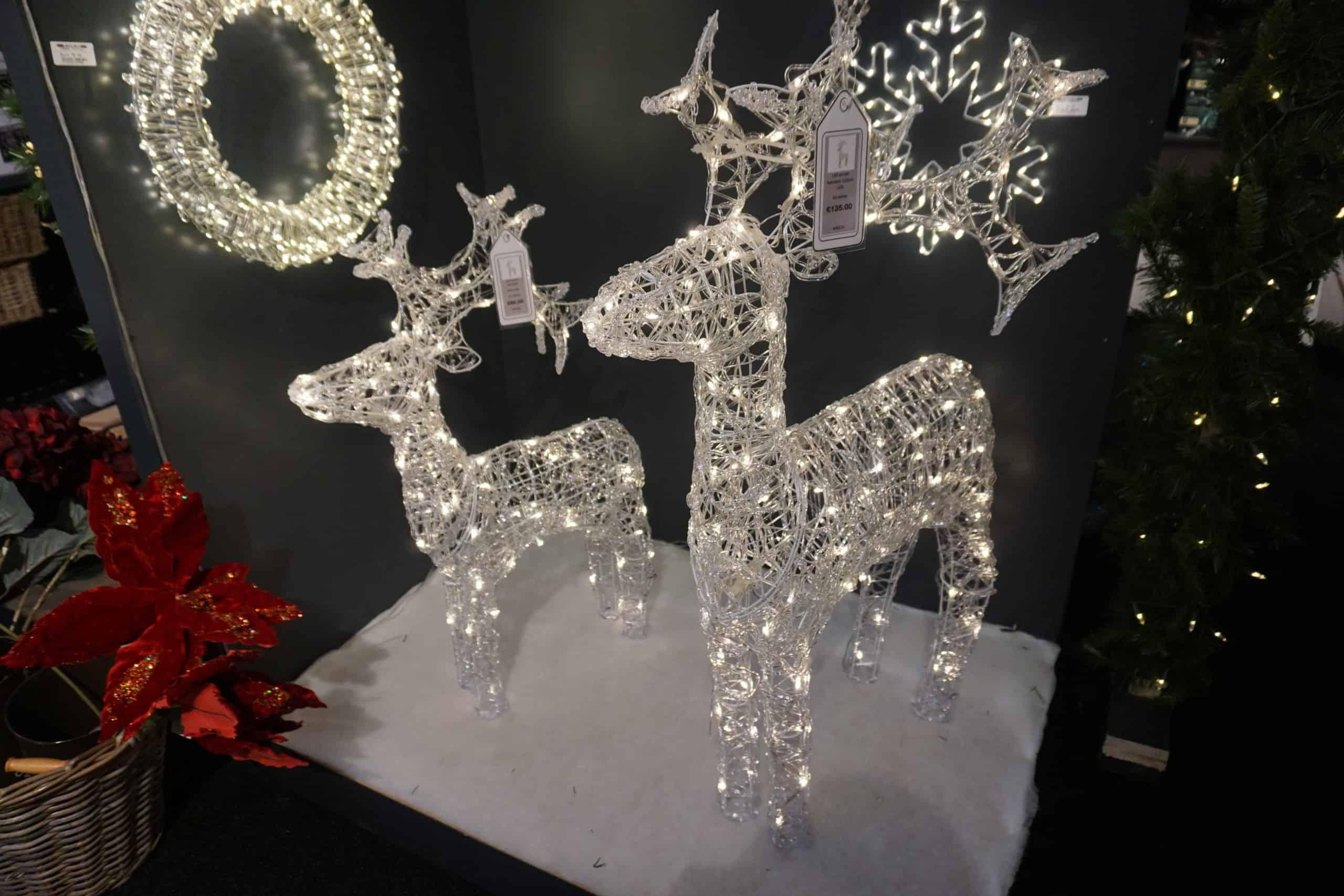 Warm White LED Acrylic Reindeer   LED Light Trees   LED Christmas ...