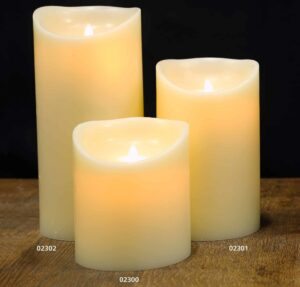 Real Wax Moving Flame Battery Candle Ivory