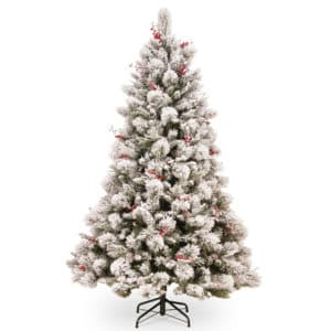 7.5 ft Snowy Bedford Pine Artificial Christmas Tree *Online Only*