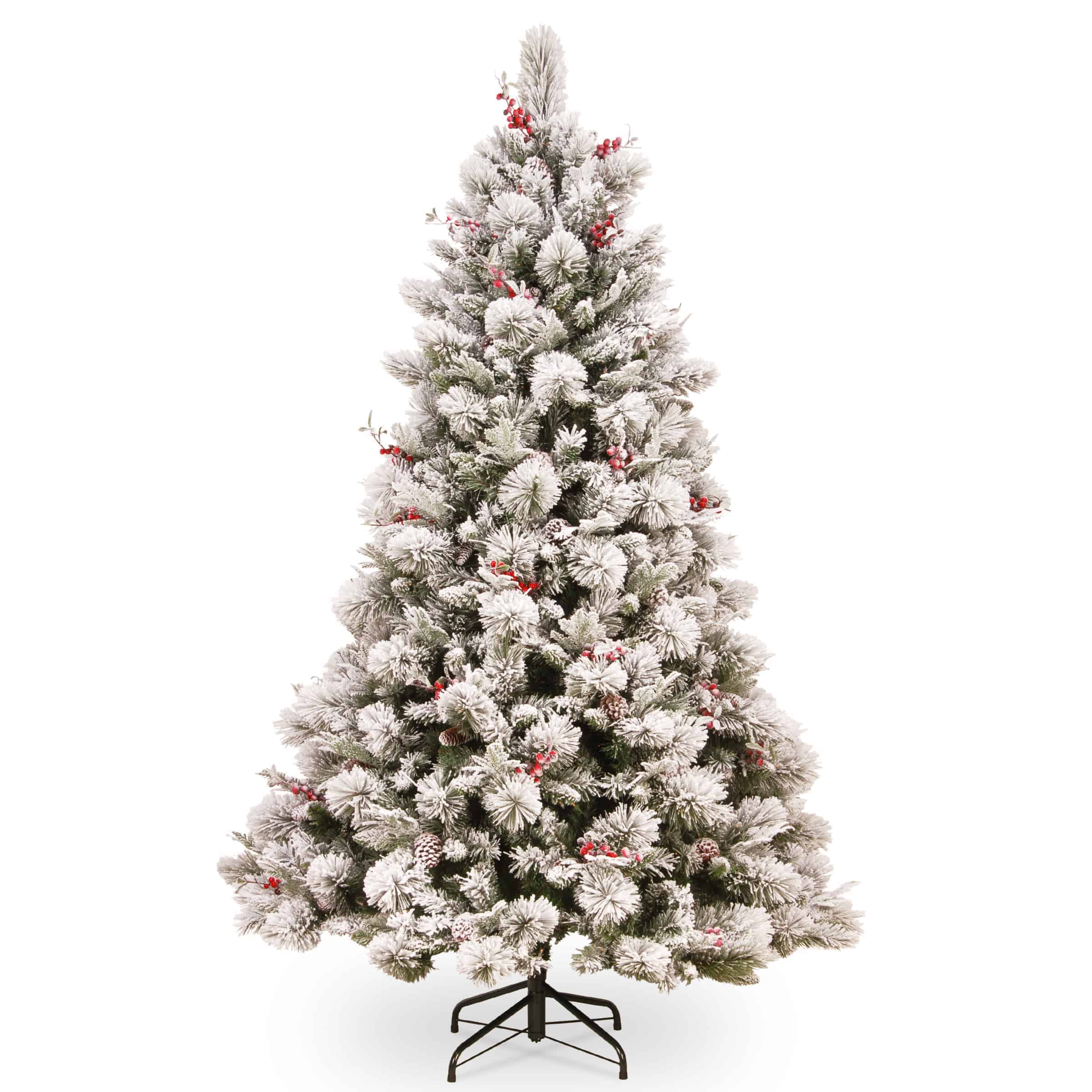 7.5 ft Snowy Bedford Pine Artificial Christmas Tree - Artificial Christmas Trees For Sale Dublin Ireland
