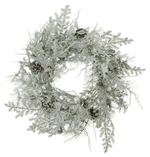 "24"" (60cm) Snowy Scots Pine Christmas Wreath"
