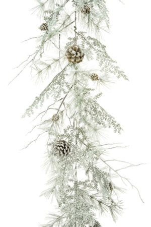 6ft Snowy Scots Pine Christmas Garland