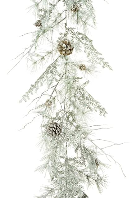 6ft Snowy Scots Pine Christmas Garland - Christmas Garlands For Sale Dublin Ireland