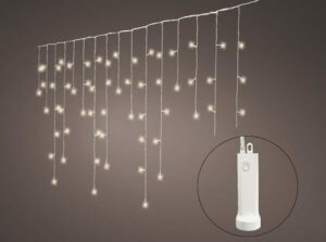 """192 Durawise Warm White Battery """"ICICLE"""" Christmas lights"""