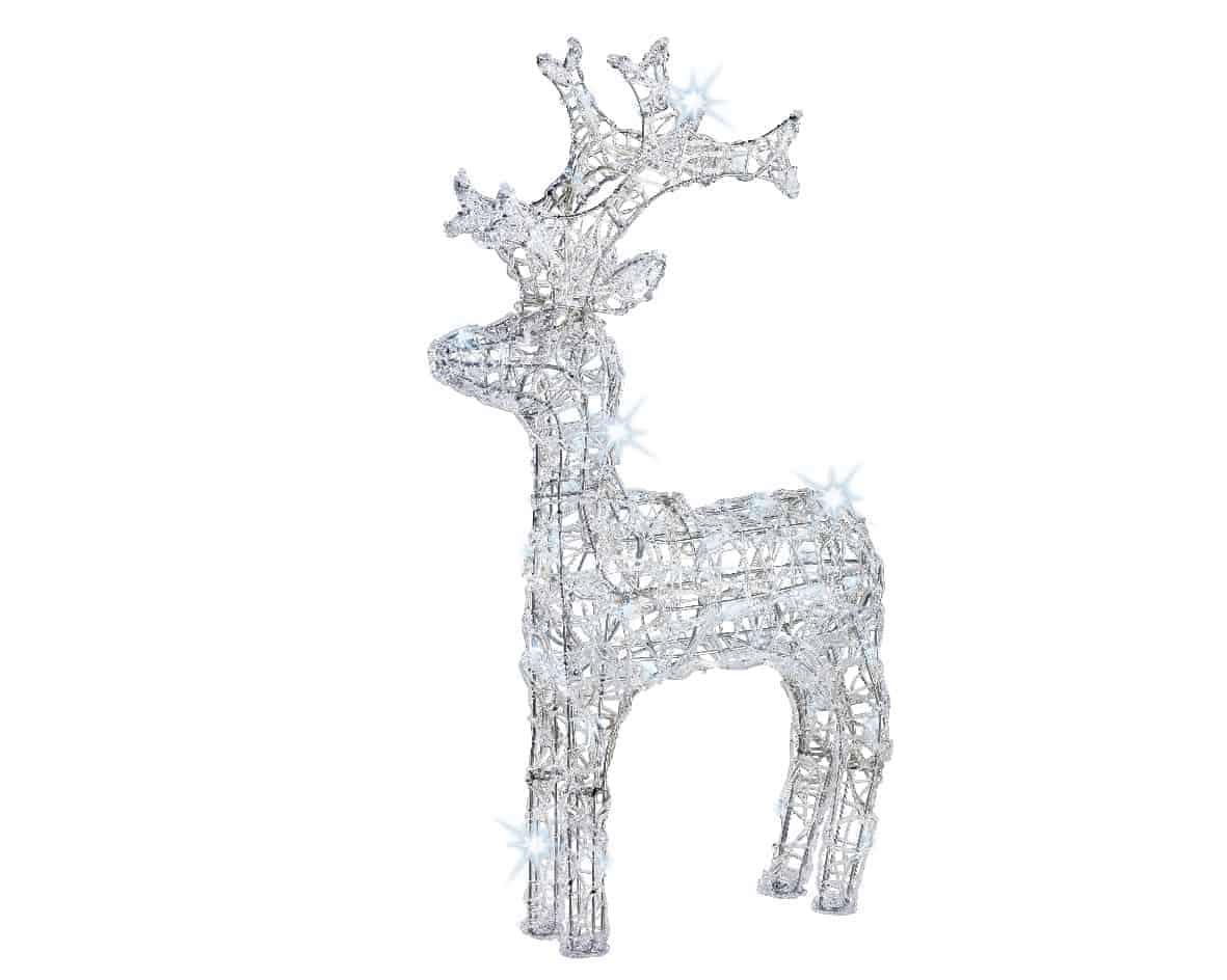cool white led acrylic reindeer