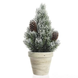 1.5ft Mini Pine Artificial Christmas Tree with Snow and Pinecones - Artificial Christmas Trees For Sale Dublin Ireland