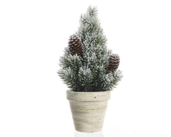 1.5ft Mini Pine Artificial Christmas Tree with Snow and Pinecones - Artificial Christmas Trees For Sale Dublin Ireland