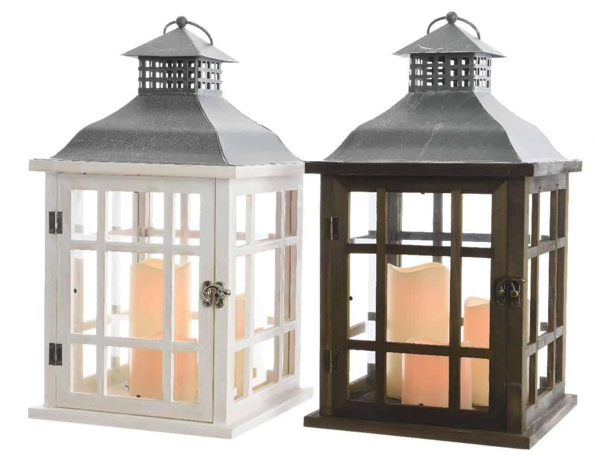 Christmas lights outdoor christmas lights led wooden for Wooden garden lanterns