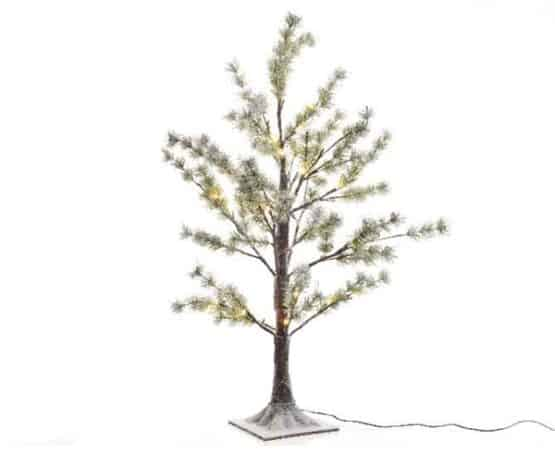5ft LED Snow Flocked Pine Artificial Christmas Tree - Artificial Christmas Trees For Sale Dublin Ireland
