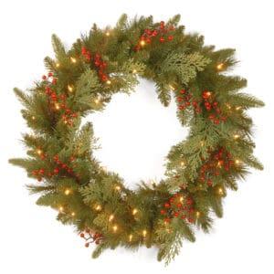 Christmas Wreath with Warm LED lights For Sale Dublin Ireland