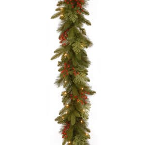 9ft Classical Collection Pre-Lit Christmas Garland