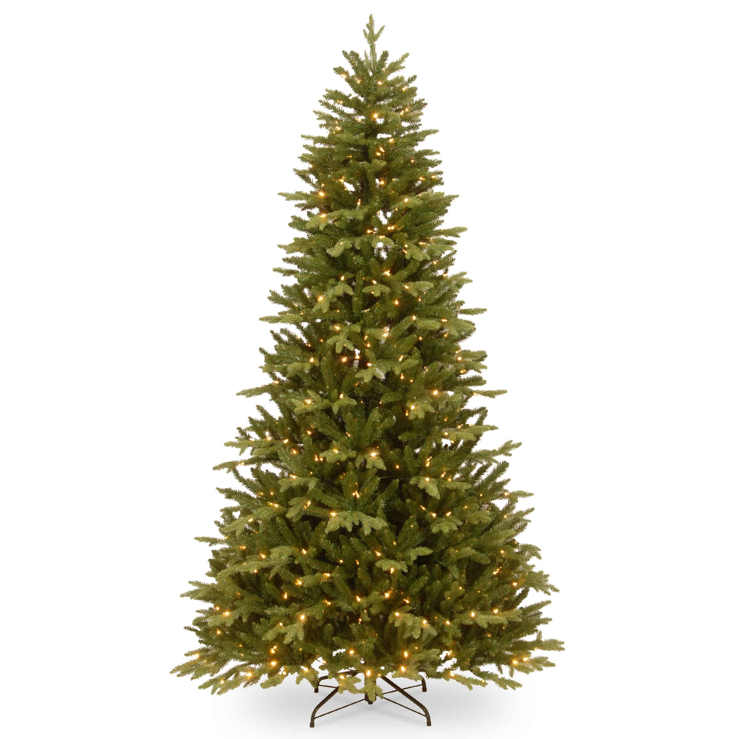 Artificial Christmas Tree Clearance.7 5ft Burlington Spruce Pre Lit Artificial Christmas Tree Online Only