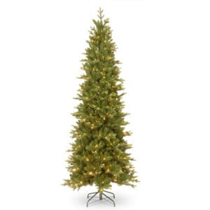 7.5 ft Carrington Fir Slim Pre-Lit Artificial Christmas Tree