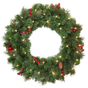 Everyday Collection Pre-Lit Wreath - Christmas Wreaths For Sale Dublin Ireland