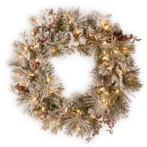 Snowy Bedford Wreath - Christmas Wreaths For Sale Dublin Ireland