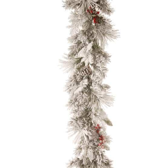 9ft Snowy Bedford Christmas Garland - Christmas Garlands For Sale Dublin Ireland