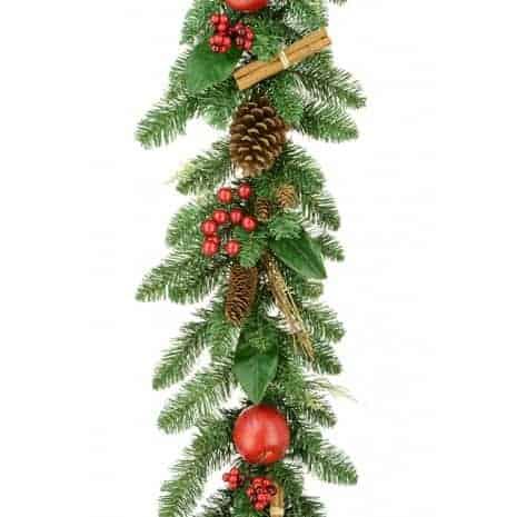 Christmas Garlands.180cm Christmas Lodge Garland