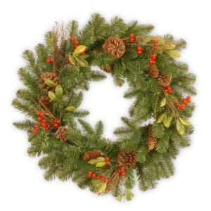 "24""(60cm) Decorative Collection Christmas Wreath *Online Only*"