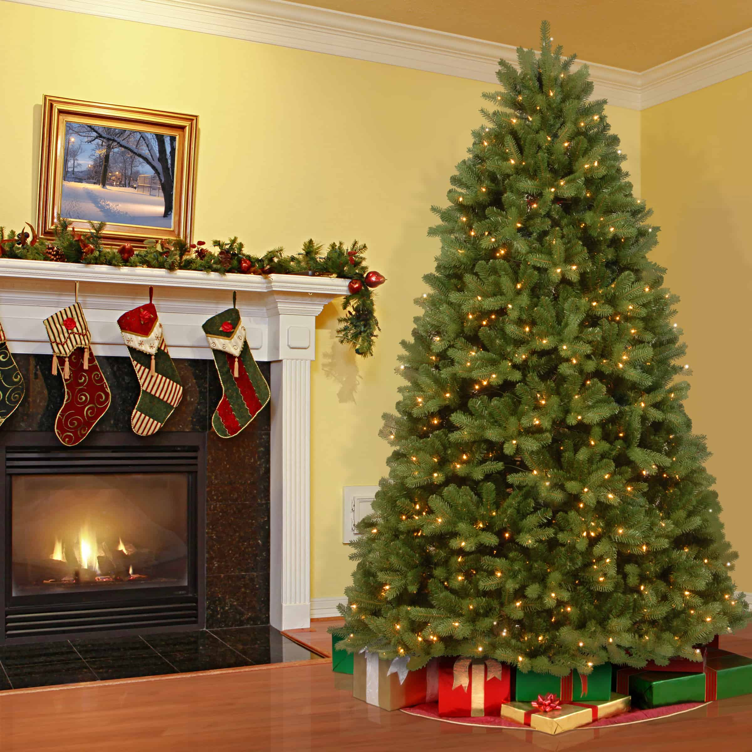 12ft Newberry Spruce Artificial Christmas Tree With LED Lights
