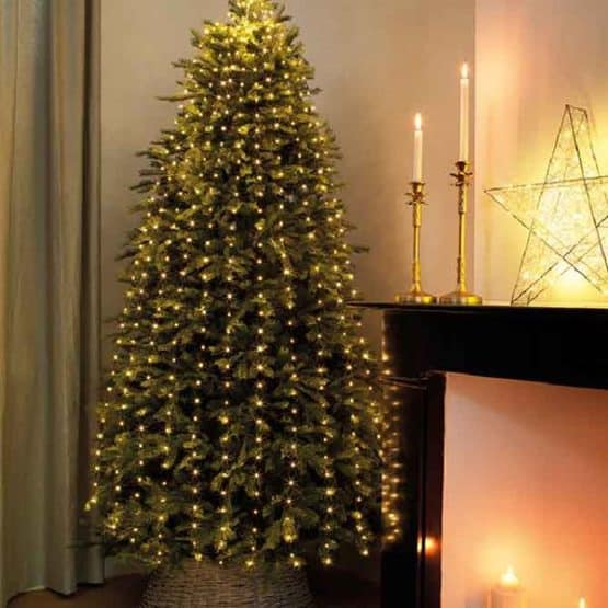 Bunch Micro-LED Christmas Tree Lights with Green Cable For Sale Dublin