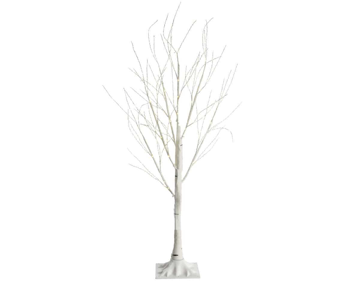 150cm White Birch Artificial Christmas Tree For Sale Dublin