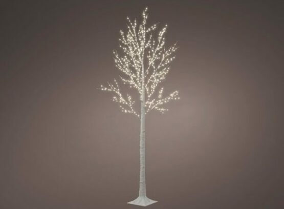 7ft White Birch Artificial Twig Christmas Tree with 750 Micro LED - Pre-Lit Christmas Trees For Sale Dublin