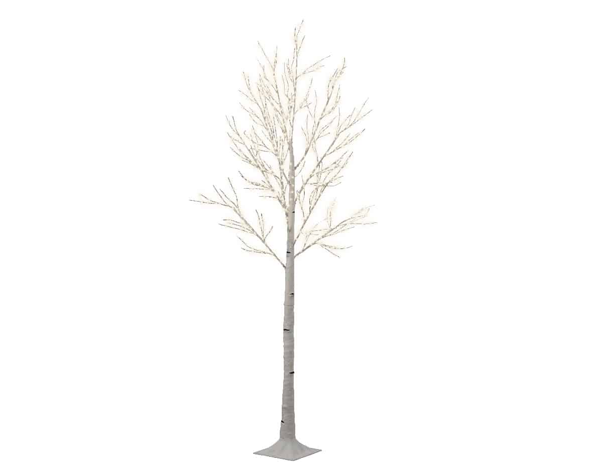 220cm White Birch Artificial Christmas Tree For Sale Dublin Ireland