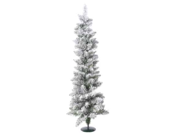 Snowy Pencil Pine Mini Artificial Christmas Tree- Mini Artificial Christmas Trees For Sale Dublin Ireland