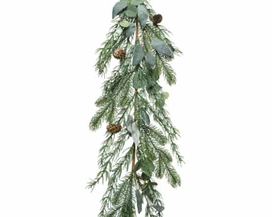 9ft Christmas Garland With Leaves And Pine Cones - Christmas Garlands For Sale Dublin Ireland