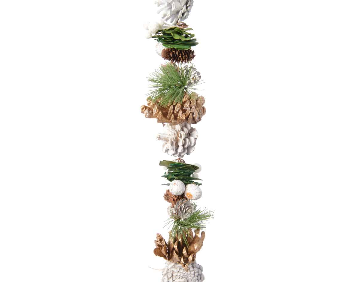 Christmas Garlands.5ft Pine Cone Christmas Garland With Pine