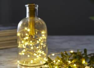LED Warm White Bottle Star Christmas Lights