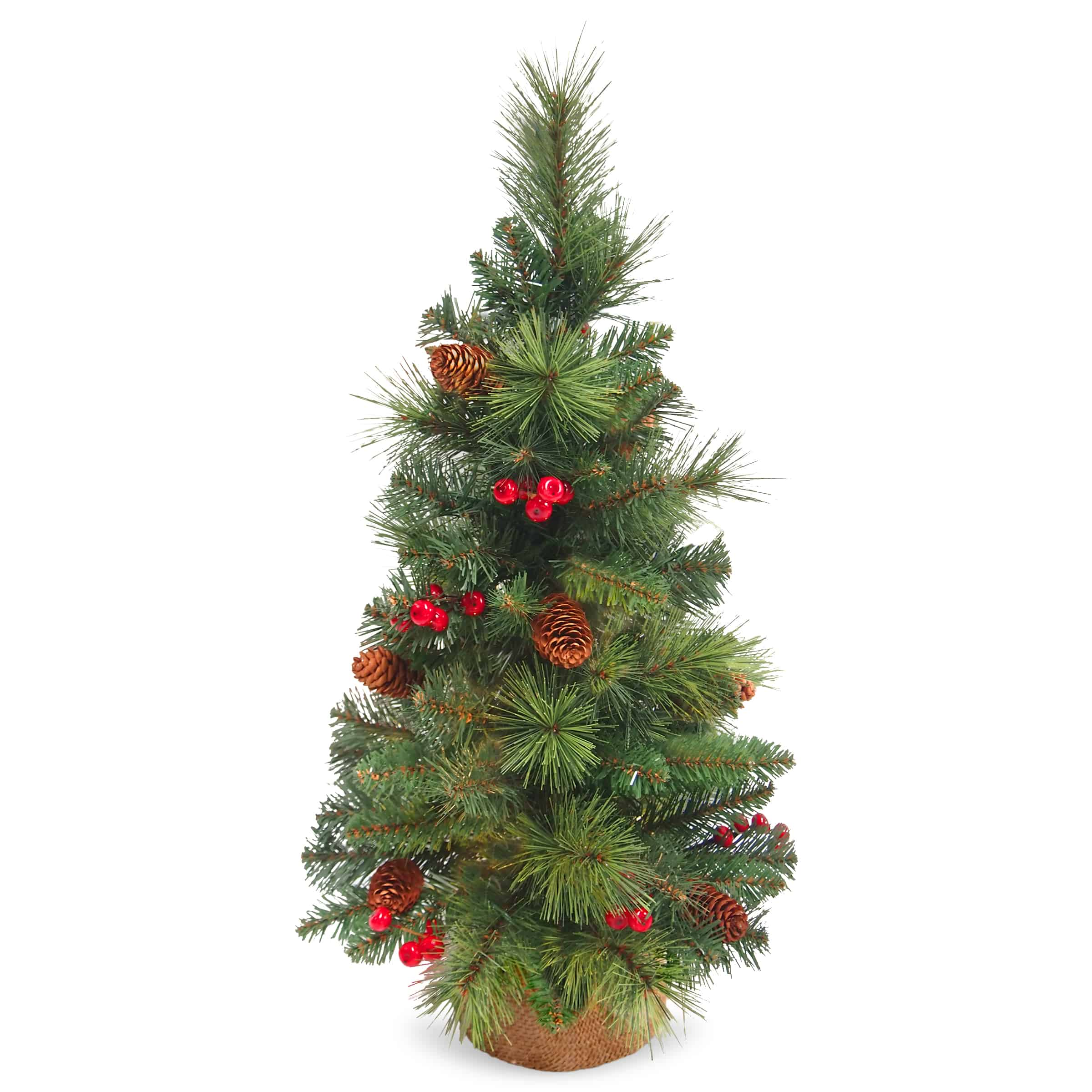 Oregon Christmas Trees.2 5ft Everyday Collection Mini Christmas Tree With Cones And Berries